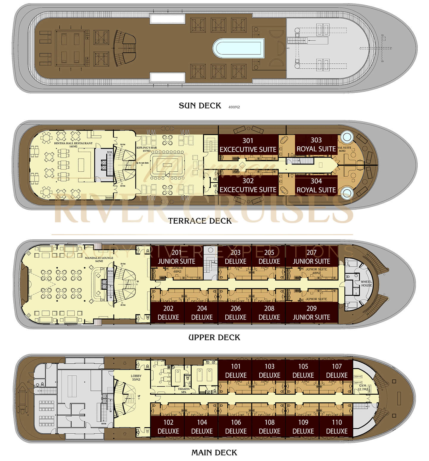 anawrahta cruise deck plan