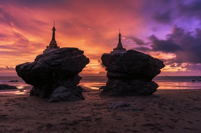 beaches in myanmar 1