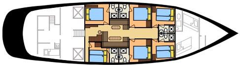 SY Raja Laut deck plan