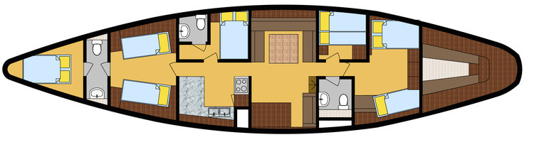 SY Scame deck plan