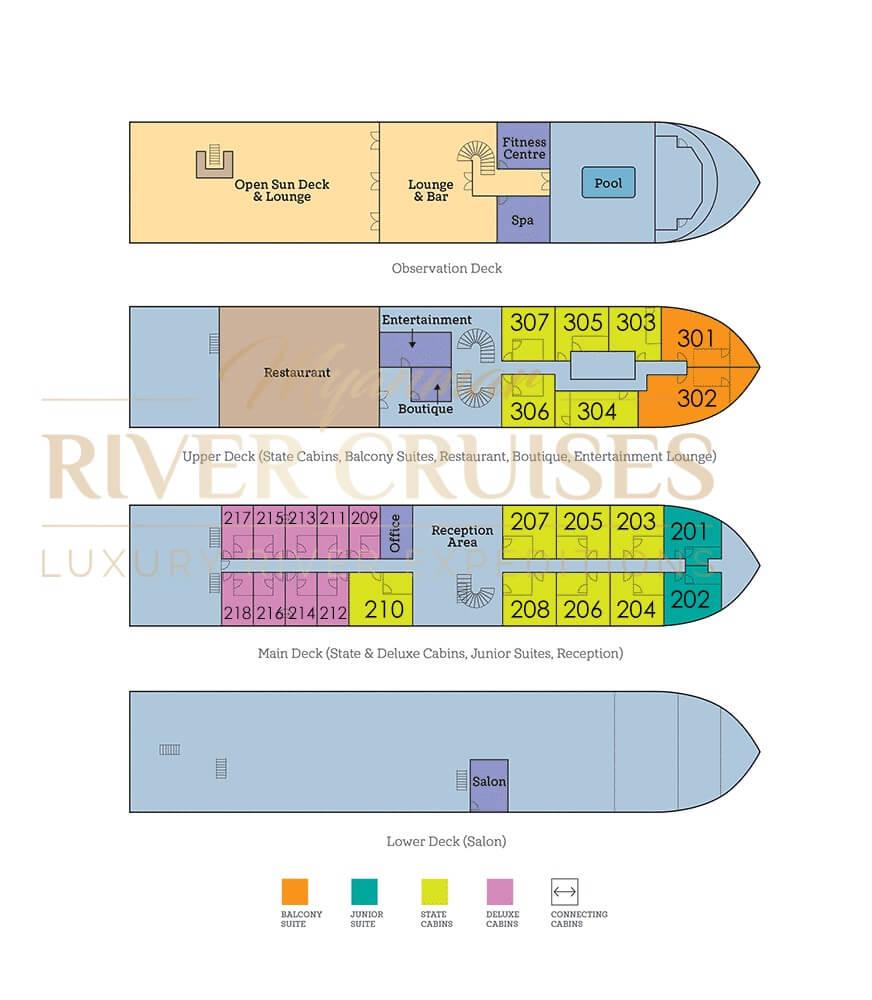belmond orcaella deck plan